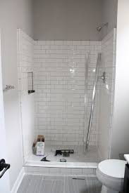 Subway Tile Bathroom White Subway Tile Shower Design Inspiration Construction2style