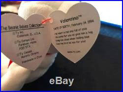 ty valentino ty valentino beanie baby with 17 errors mint condition