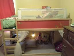transformed ikea kura loft bed must get bed rails kids