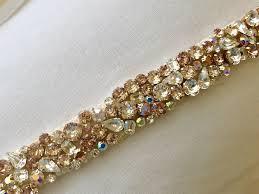 bridal sash blush gold bridal sash the bridal jewelry and