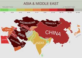 Map Of Asia And Middle East by New Map Reveals The World U0027s Most Toxic Countries Toxic Countries