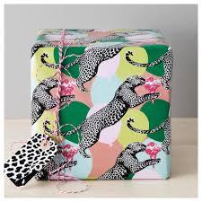 leopard wrapping paper mångfald gift wrap roll ikea