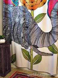 Designer Shower Curtains by Beautiful How To Make Any Curtain Into A Shower Curtain Jenna
