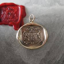 wax seal jewelry wax seal pendant griffin and greyhound antique wax seal charm