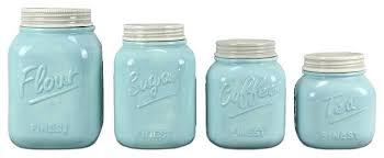 kitchen canisters set of 4 teal canister set 4 ceramic jar canister set blue