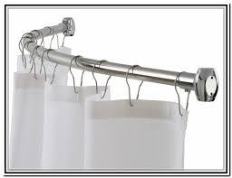 Round Shower Curtain Rod For Corner Shower Half Round Shower Curtain Rod Home Design Ideas
