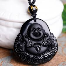 black jade necklace images Wholesale 100 natural obsidian black jade agate pendant chinese jpg