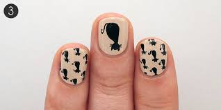 halloween nail art tutorial black cat pattern more com