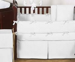 Minky Crib Bedding Solid White Minky Dot Baby Bedding 9pc Crib Set By Sweet Jojo
