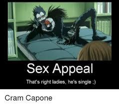 Sex Appeal Meme - sex appeal that s right ladies he s single cram capone meme on me me