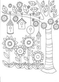 happy garden printable colouring book pages smileywileys