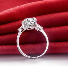 wedding ring test online shop new 2 ct certificate moissanite women engagement ring