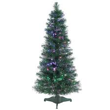 sterling 4 ft pre lit fiber optic artificial tree with