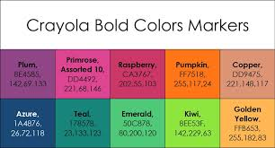 bold colors list of current crayola marker colors jenny s crayon collection