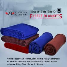 Cheapest Beds Online India Buy Set Of 5 Fleece Blankets Online At Best Price In India On