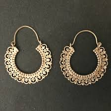hoops earrings india gold plated silver indian handmade hoop earrings by jaipurmahal on
