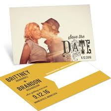 save the date postcards custom designs from pear tree