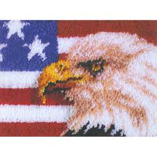 American Flag Rugs Amazon Com Wonderart American Eagle Latch Hook Kit 15