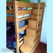 Bunk Bed Ladder Build Your Own Bunk Bed Bunk Bed Plans Bunk Bed With Stairs