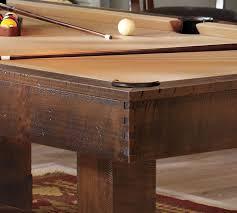 ping pong cover for pool table pottery barn pool table rustic mahogany pottery barn