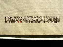 frank lloyd wright oak park period studio envelope c1898 frank