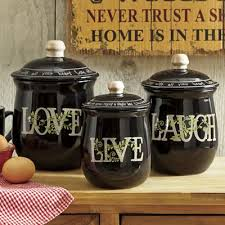 country kitchen canisters 3 live laugh canister set canisters