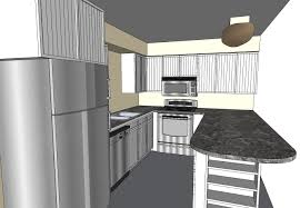 kitchen designs how to design a kitchen using sketchup dimensions