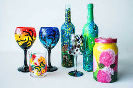 glass painting a colorful affair
