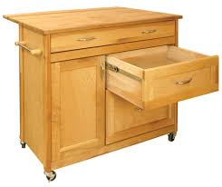 Kitchen Island Cart With Drop Leaf by Catskill Craftsmen Mid Sized Drawer Island Model 1521