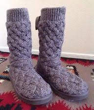 womens ugg cambridge boot grey ugg australia cambridge s 9 suede sweater knit boot grey