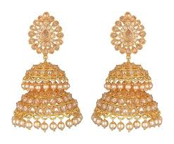 dangler earrings earrings jhumka pearl dangler jyotsna bhatia