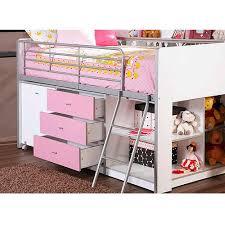 savannah storage loft bed with desk white and pink savannah storage loft bed with desk white and pink walmart best