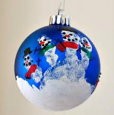 handprint snowman ornament 100 days of