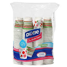 dixie cups dixie bath cups coordinating designs 3 oz 600 count