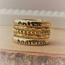 personalized stackable rings stacking rings s rings family rings hip jewelry