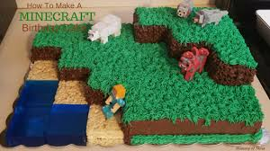 minecraft birthday cake ideas how to make and decorate a minecraft landscape birthday cake