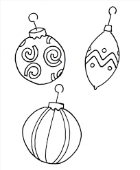 tree ornaments coloring pages ornament template page simple