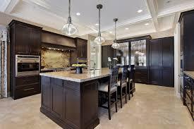 dark kitchen cabinets with backsplash quartz countertops kitchen with dark cabinets lighting flooring