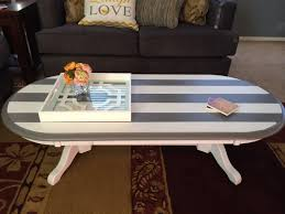How To Style A Coffee Table Diy Striped Coffee Table Treats And Trends