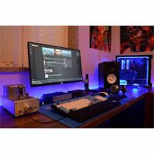 Sick Dorm Room Media Center Setup And Workstation New by 1116 Best Battlestation Office Game Room Images On Pinterest