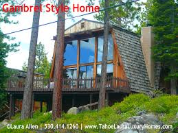 what is a gambrel style home in lake tahoe