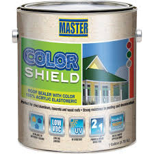master products 1 gal gray colorshield roof sealer vv1222 the