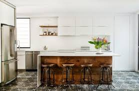 reclaimed wood nightstand kitchen industrial with white countertop