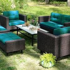 Sunbrella Patio Chairs by Amazon Com Ae Outdoor 6 Piece All Weather Wicker Wright Deep