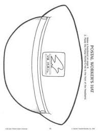 mailman hat coloring page 27 images of mail carrier hat template learsy com