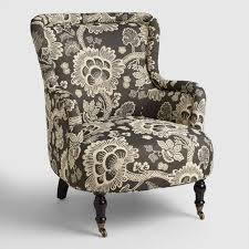 Reading Chair Black And White Floral Reading Chair World Market