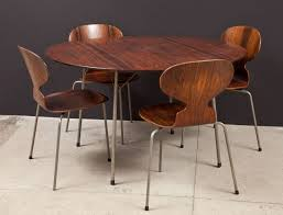 Arne Jacobsen Dining Chairs Ant Rosewood Table And Dining Chair Set By Arne Jacobsen For Sale