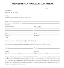 Social Club Membership Application Form Template 15 club application templates free sle exle format