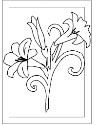 flowers to color and print free download