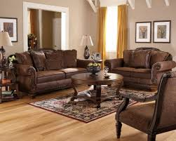 Wood Area Rugs Artistic Broyhill Living Room Sets Using Traditional Brown Leather